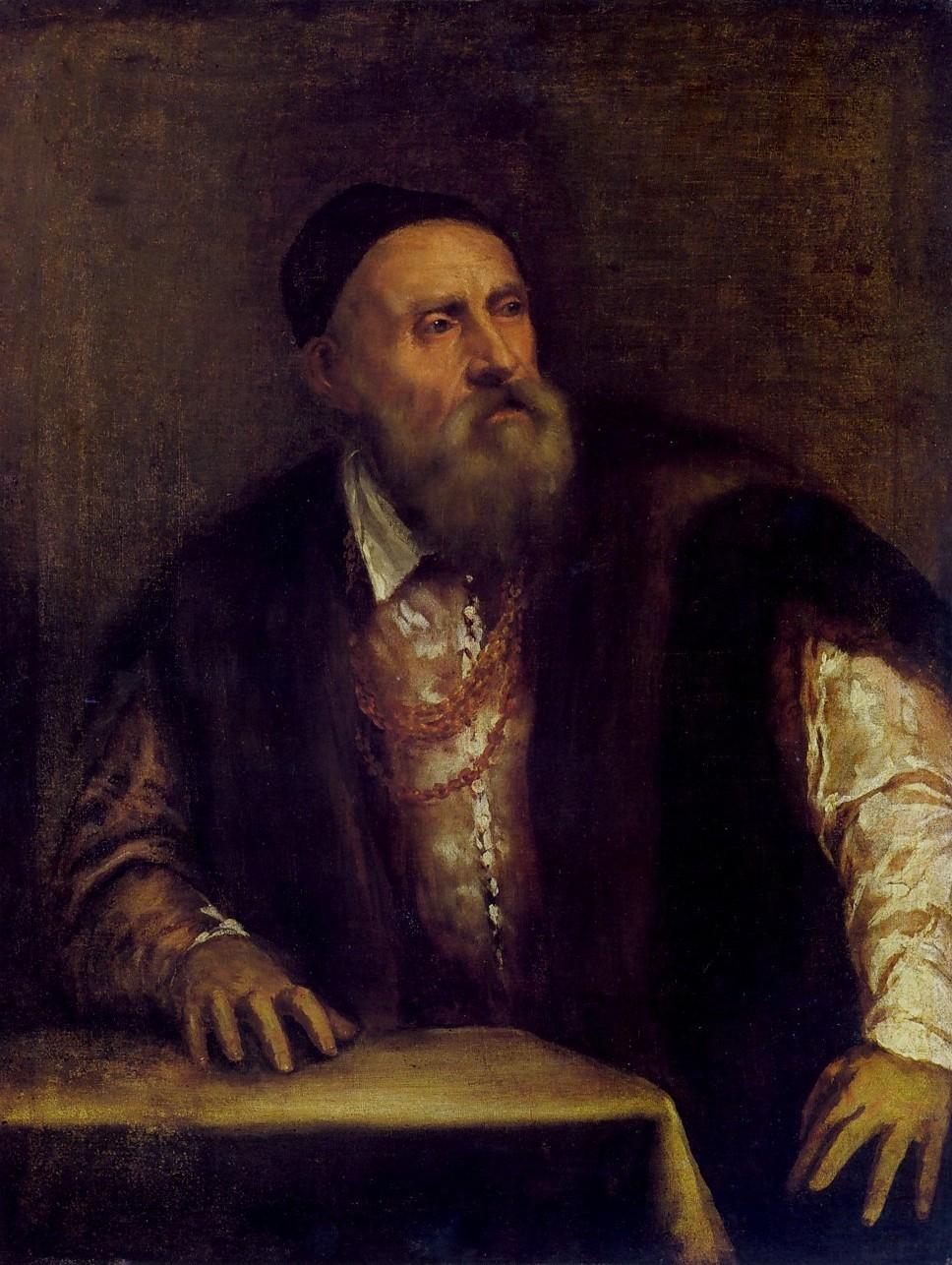 Titian (Self-portrait, 1546-7) Staatliche, Berlin